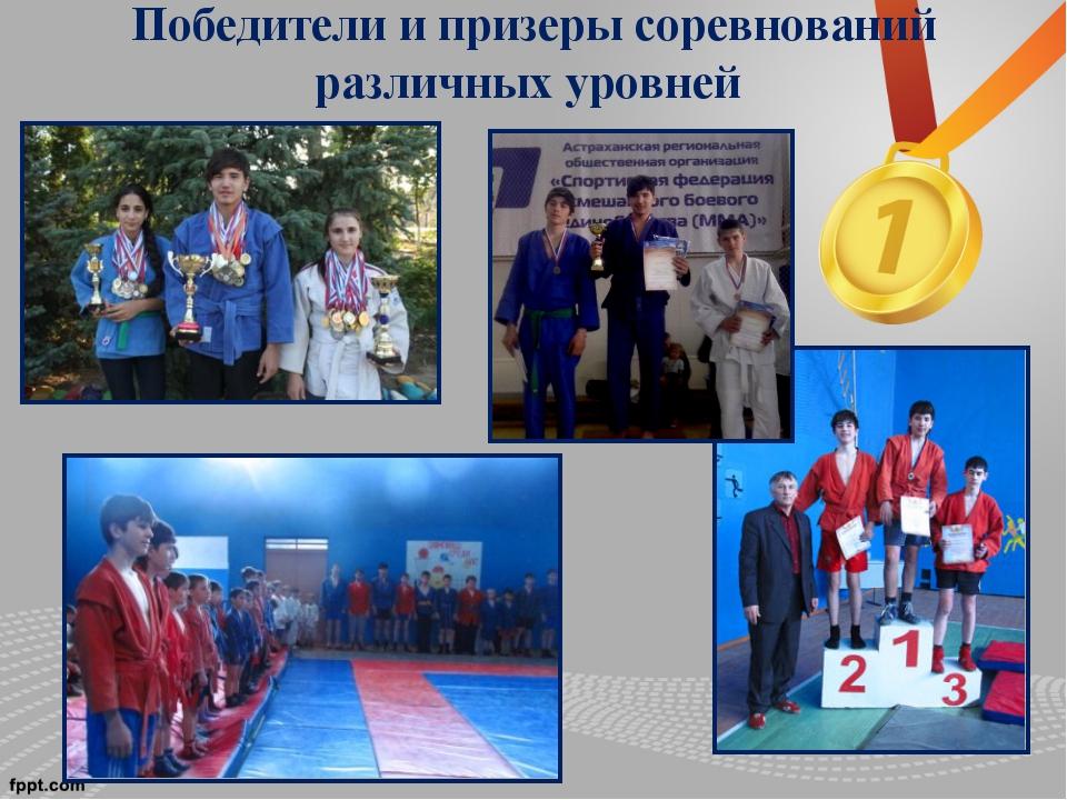Победители и призеры соревнований различных уровней