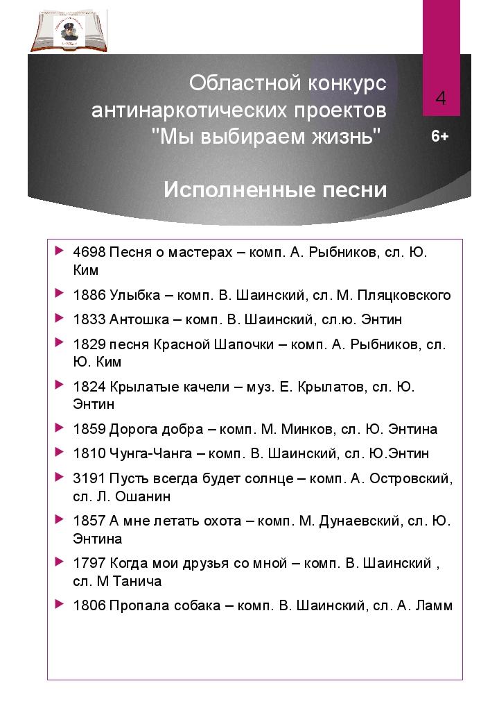 """Областной конкурс антинаркотических проектов """"Мы выбираем жизнь"""" Исполненные..."""