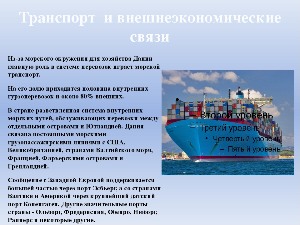 Транспорт и внешнеэкономические связи Из-за морского окружения для хозяйства...
