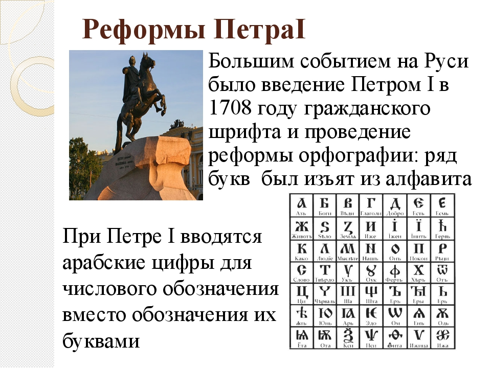 Реформы ПетраI Большим событием на Руси было введение Петром I в 1708 году гр...