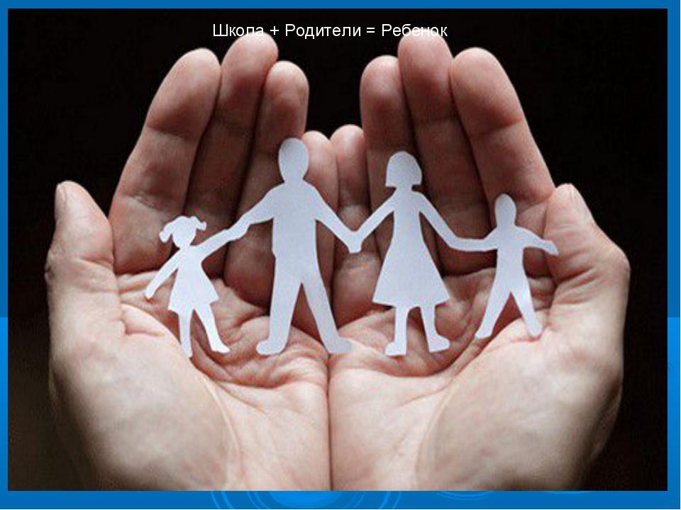 Школа + Родители = Ребенок