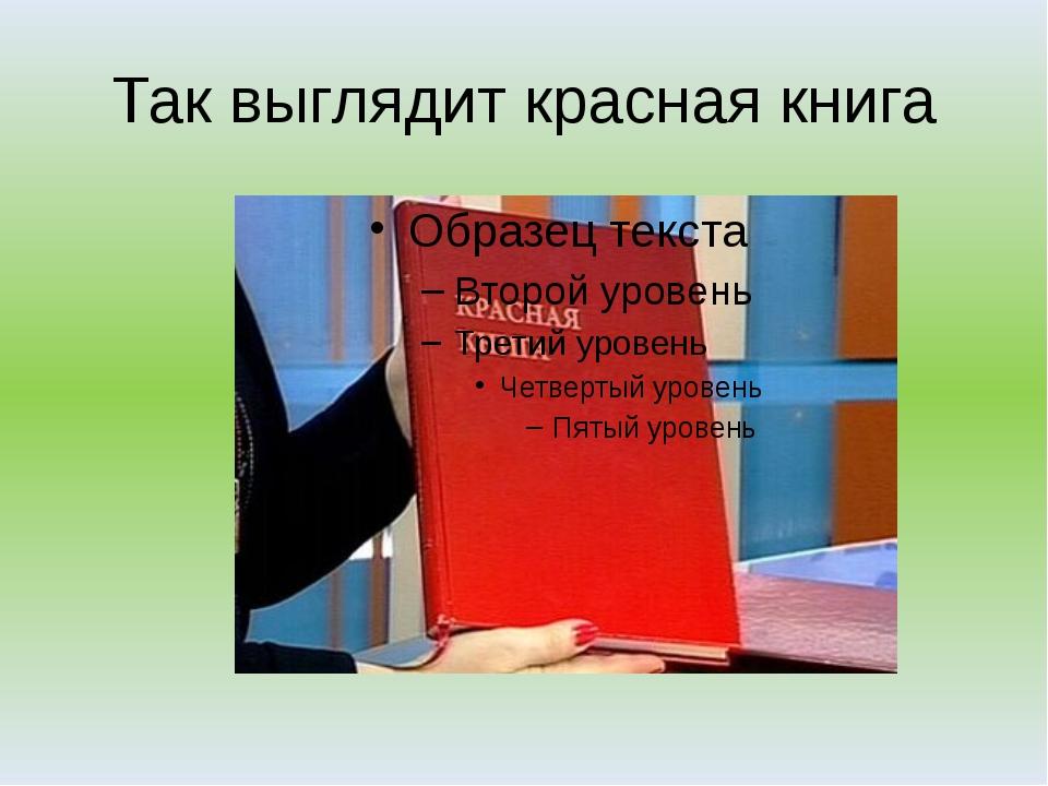 Так выглядит красная книга
