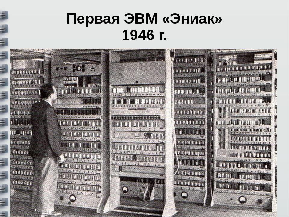 Первая ЭВМ «Эниак» 1946 г.