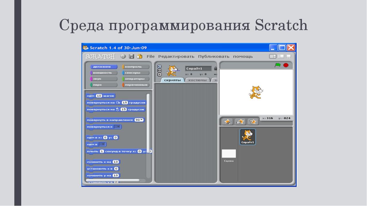 Среда программирования Scratch