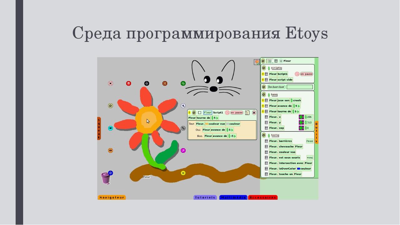 Среда программирования Etoys