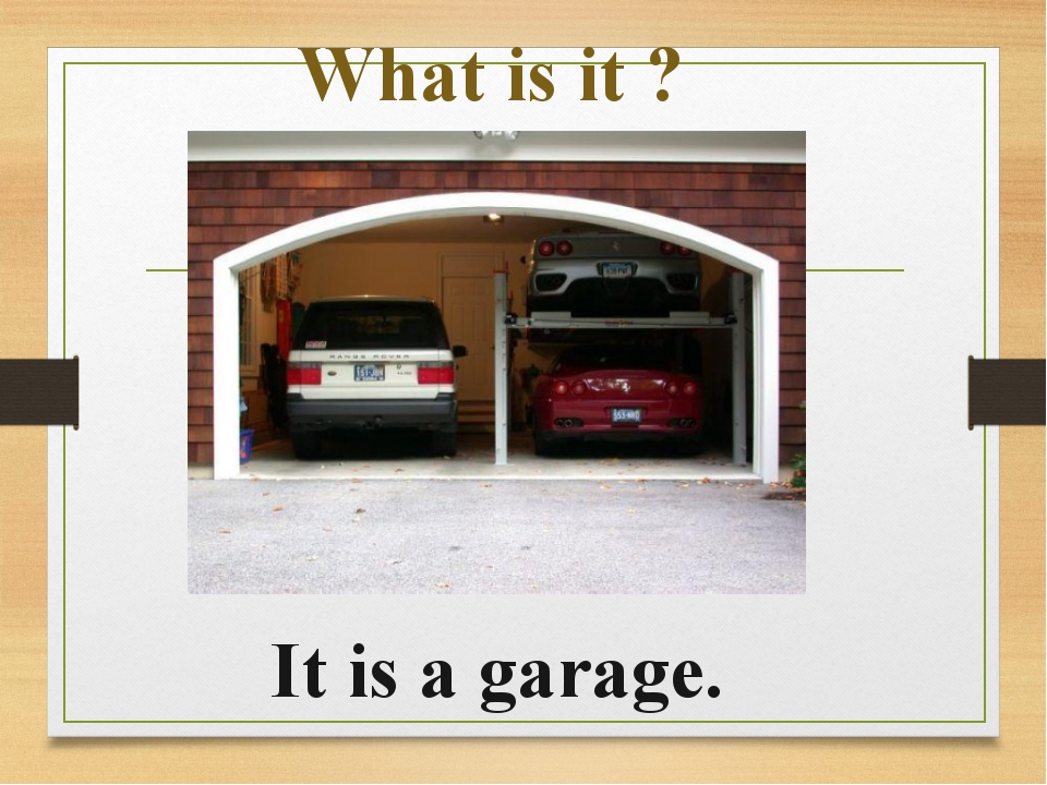 What is it ? It is a garage.