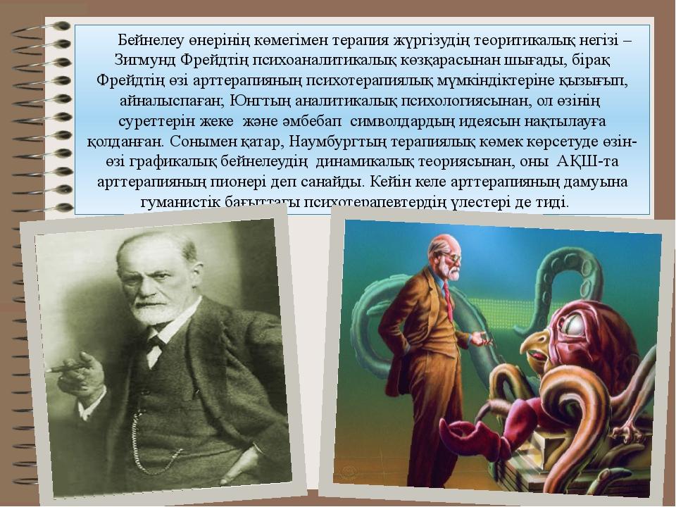 Бейнелеу өнерiнiң көмегiмен терапия жүргізудің теоритикалық негiзi – Зигмунд...