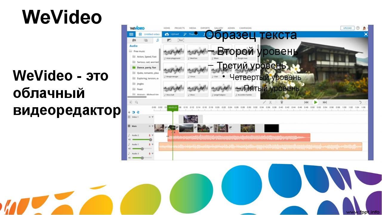 WeVideo WeVideo- это облачный видеоредактор
