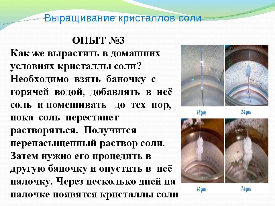 Выращивание кристаллов соли ОПЫТ №3 Как же вырастить в домашних условиях крис...