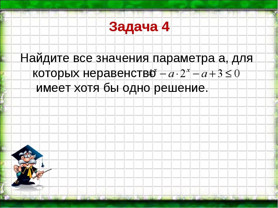 Задача 4 Найдите все значения параметра а, для которых неравенство имеет хотя...