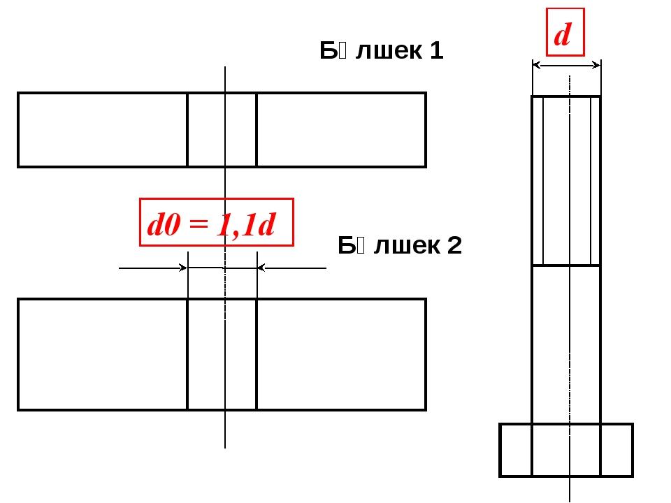 d0 = 1,1d d Бөлшек 1 Бөлшек 2
