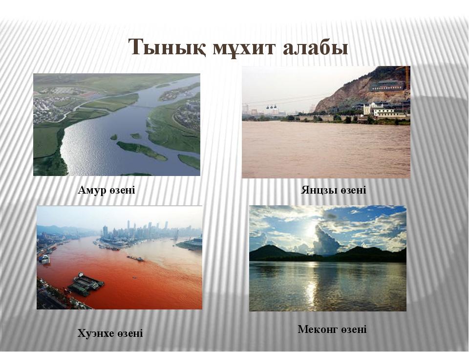 Тынық мұхит алабы Амур өзені Янцзы өзені Хуэнхе өзені Меконг өзені