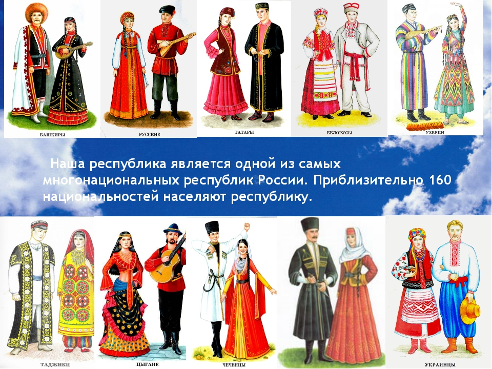 Наша республика является одной из самых многонациональных республик России....