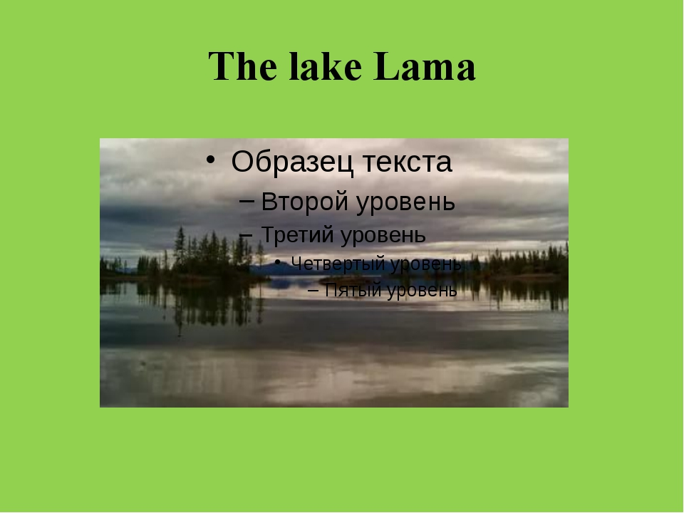 The lake Lama