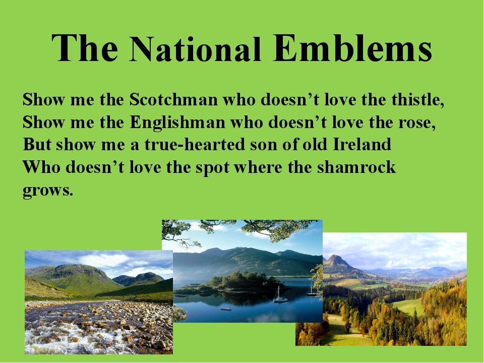 The National Emblems Show me the Scotchman who doesn't love the thistle, Show