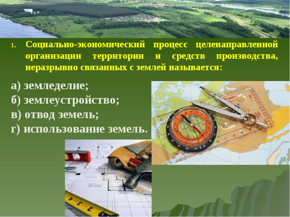 Социально-экономический процесс целенаправленной организации территории и сре...