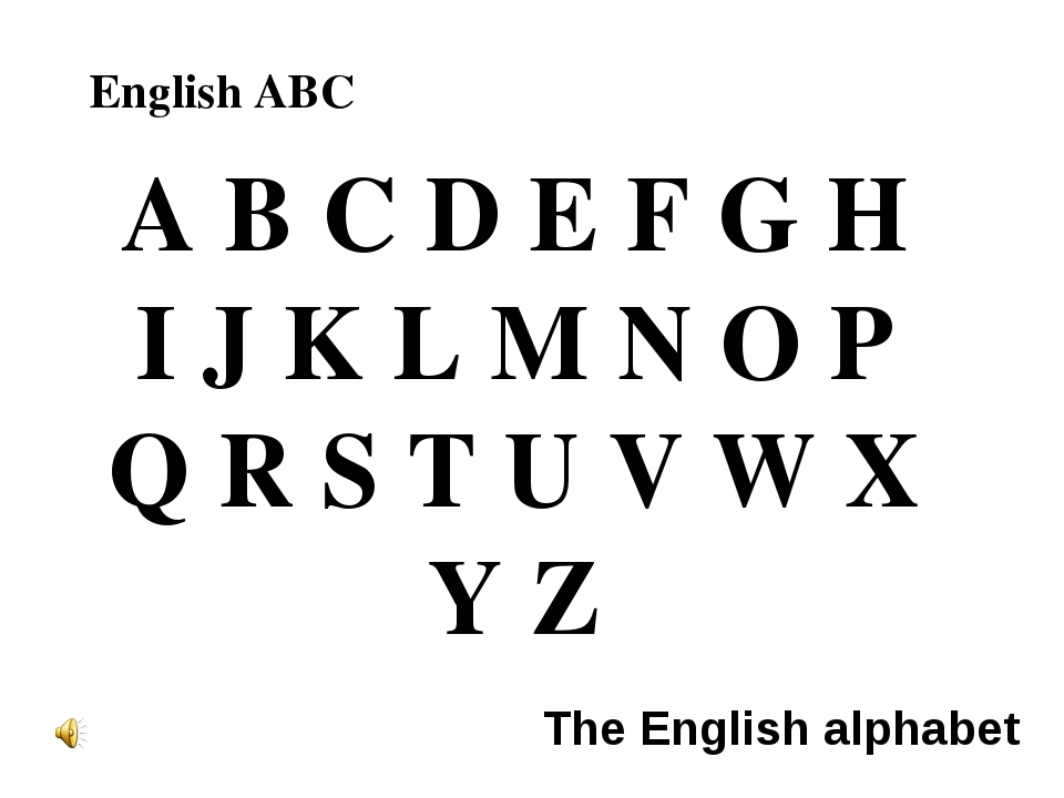 A B C D E F G H I J K L M N O P Q R S T U V W X Y Z English ABC The English a...