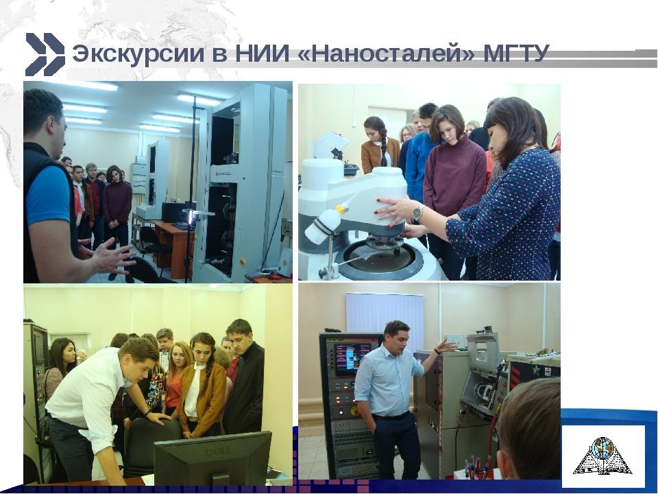 Экскурсии в НИИ «Наносталей» МГТУ http://ppt.prtxt.ru Add your company sloga...