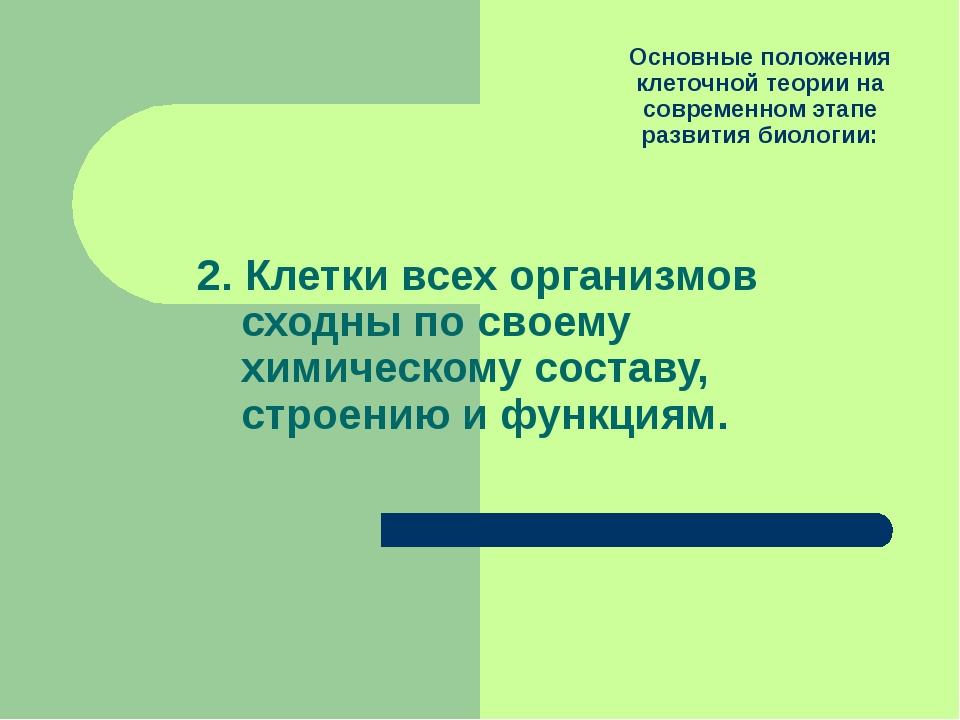 Основные положения клеточной теории на современном этапе развития биологии: 2...