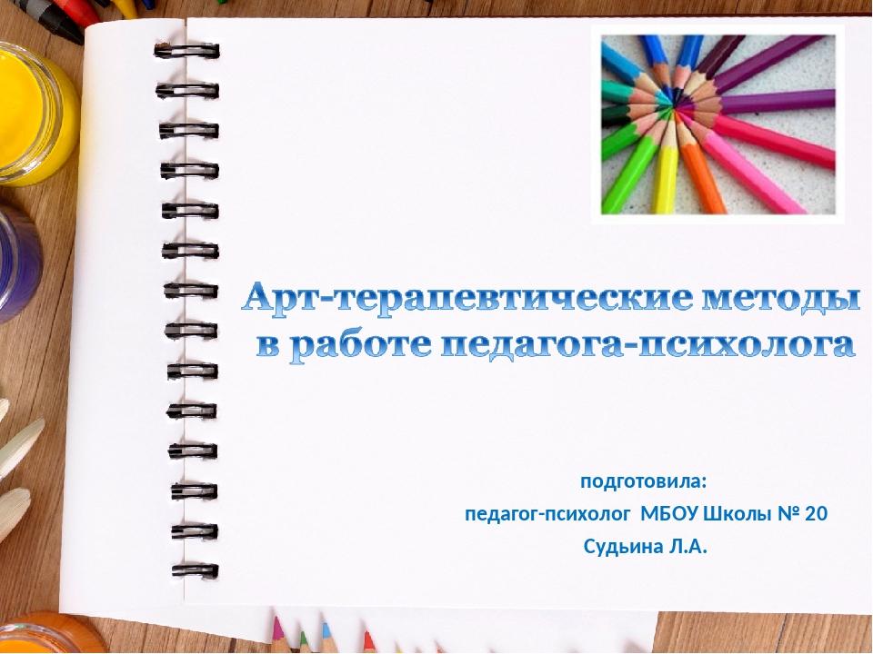 подготовила: педагог-психолог МБОУ Школы № 20 Судьина Л.А.