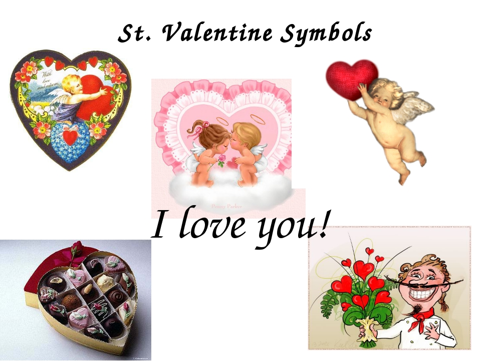 St. Valentine Symbols I love you!