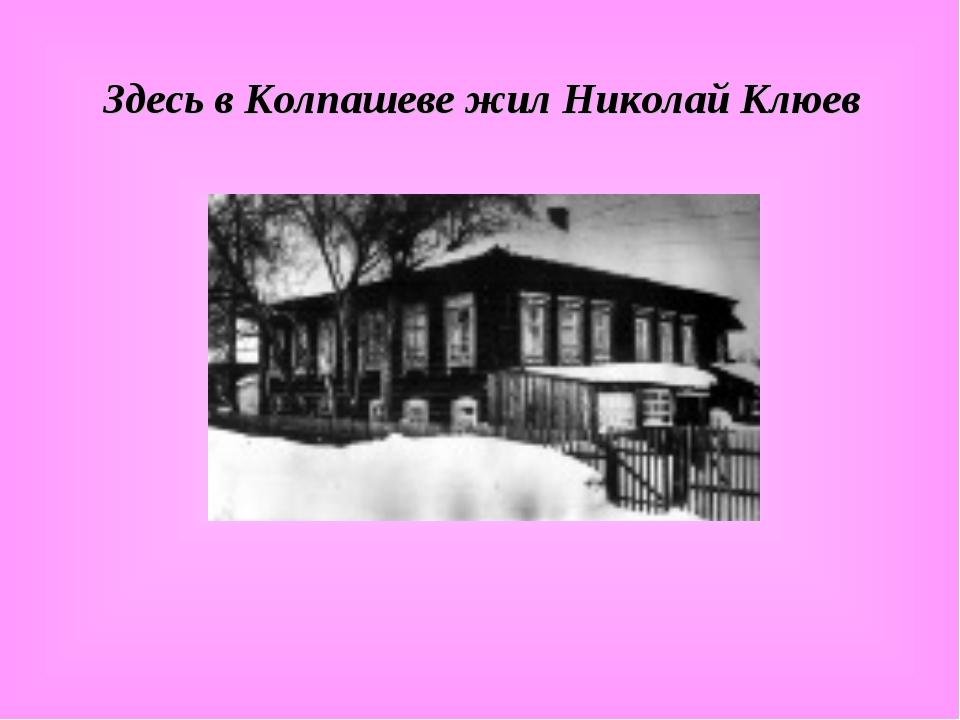 Здесь в Колпашеве жил Николай Клюев