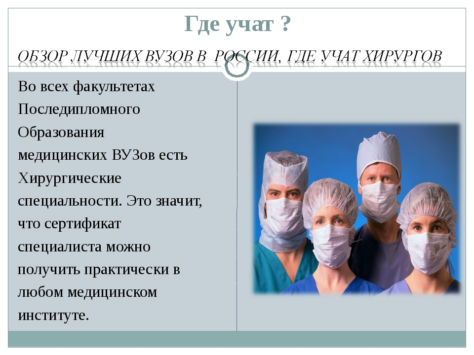 Где учат ? Во всех факультетах Последипломного Образования медицинских ВУЗов...