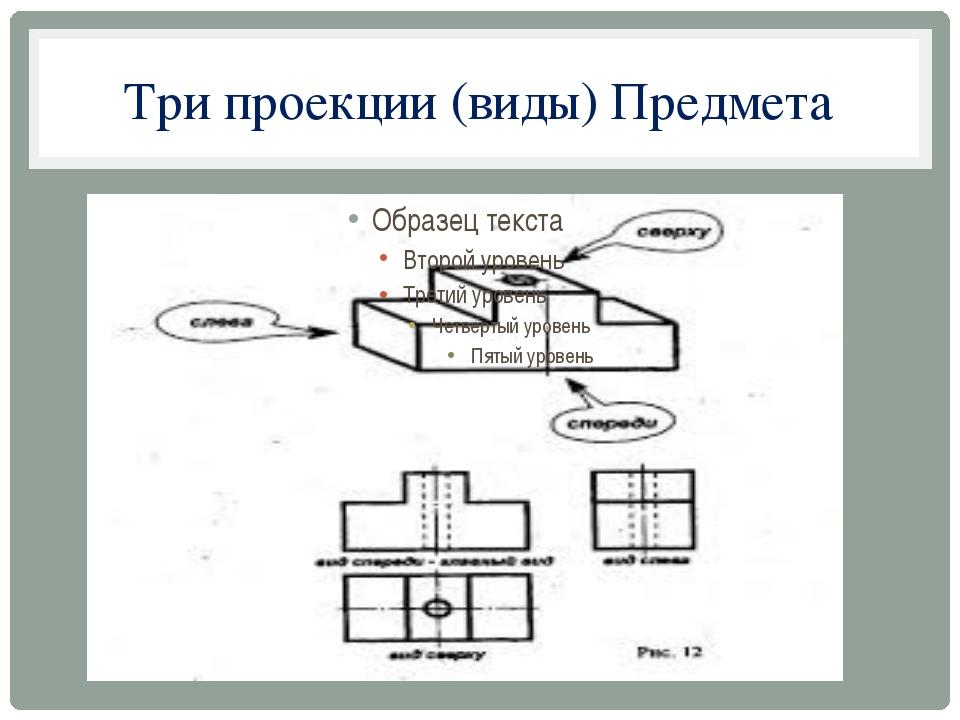 Три проекции (виды) Предмета